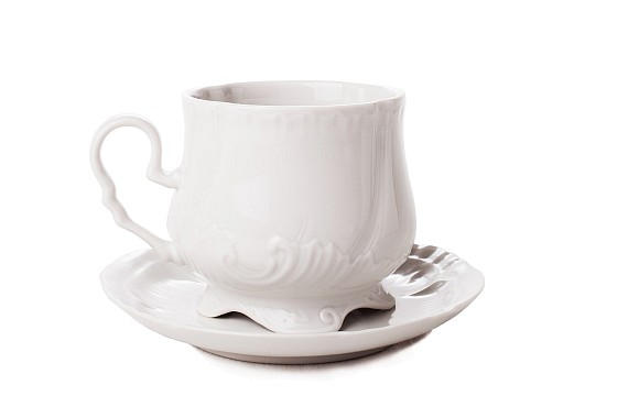 "Tea pair ""Kuznetsovskaya"". White."