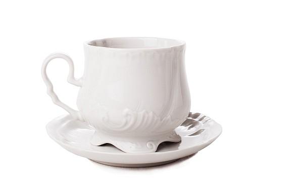 """Tea pair """"Kuznetsovskaya"""". White."""