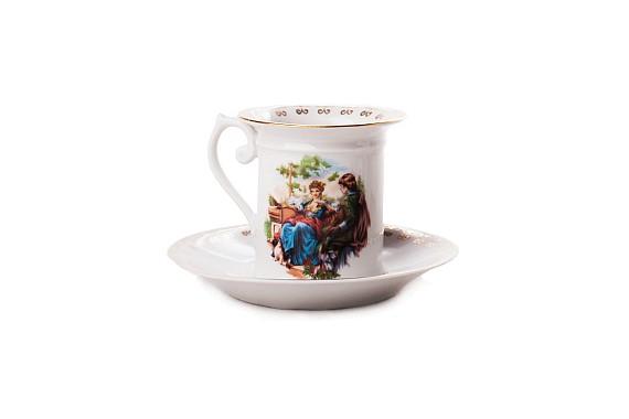 "Coffee pair ""Madonna""  Coffee couples of the XIX century"