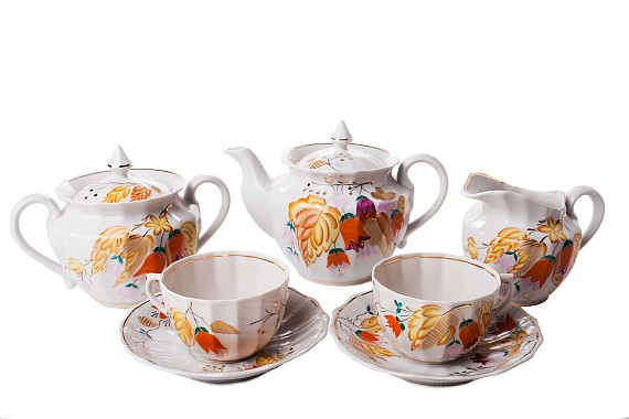 "Tea set ""Flowers of autumn""."