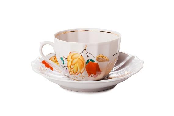 "Tea set ""Flowers of autumn""."