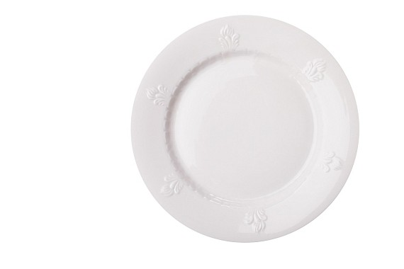 """Тарелка плоская """"Севрская"""". Белая"""