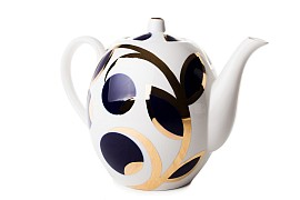 "Teapot ""Apples cobalt"" 3500 ml"