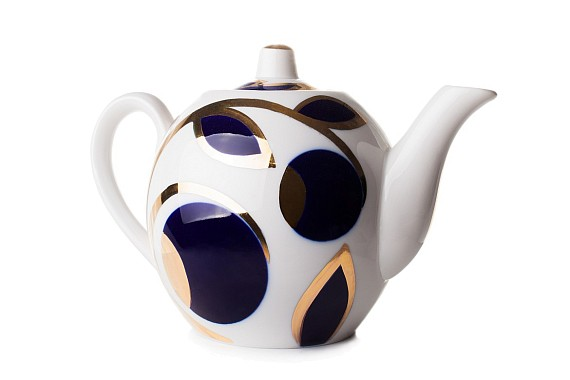 "Teapot ""Apples cobalt"" 800 ml"