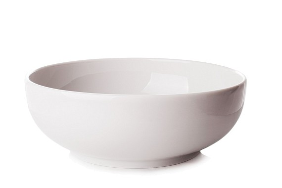 Salad bowl is round.