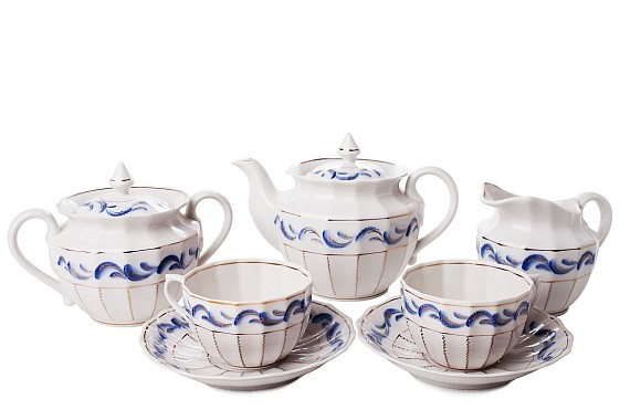 "Tea set ""Blue Bird""."