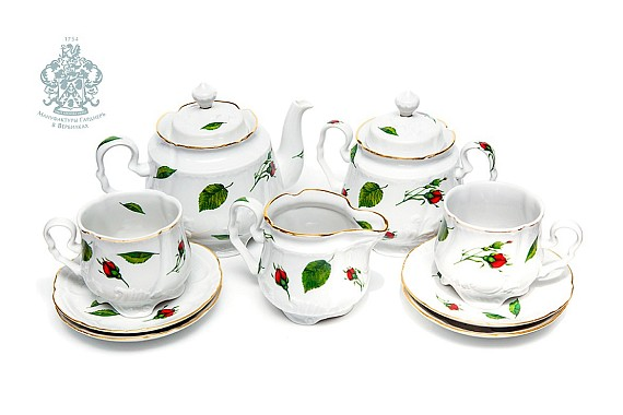 "Tea set ""Buds scattered""."