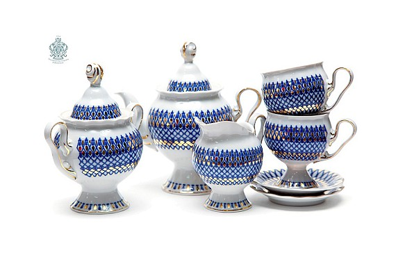 "Tea set ""Sapphire""."
