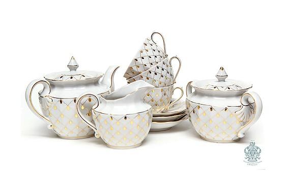 """Tea set """"Golden veil""""."""