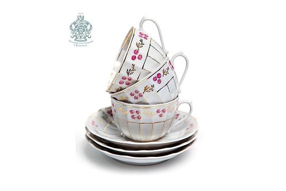"""Чайный сервиз """"Брусника. Лесная сказка"""""""