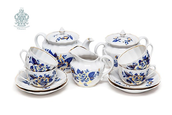 "Tea set ""Night Flowers""."
