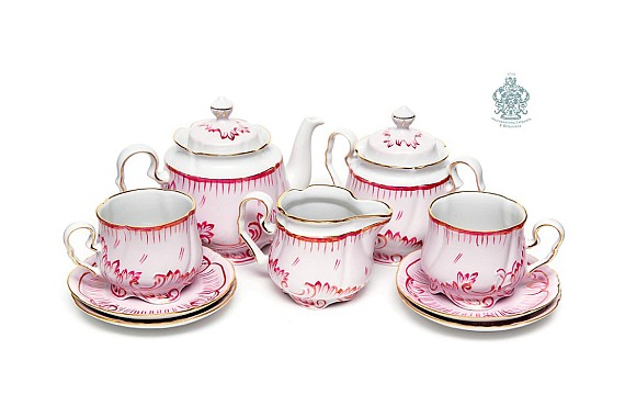 "Tea set ""Ruby""."