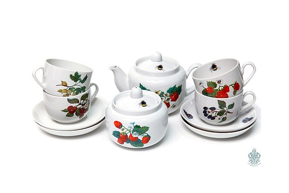"Tea service ""Summer Garden""."