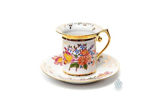 "Coffee steam ""Iris and gerbera"""
