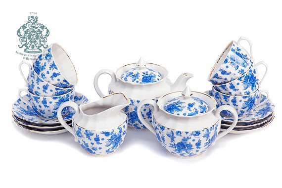 "Tea set ""Astra Blue""."