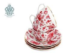 """Чайный сервиз """"Астра розовая"""""""