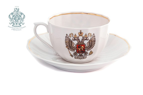 "Tea pair ""Coat of Arms of Russia""."