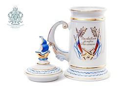 "Mug souvenir ""Peter I"" (marble)"