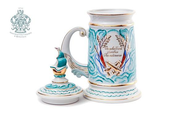"""Mug souvenir """"Peter I"""" (malachite)"""