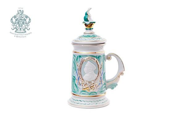 "Souvenir mug ""Nakhimov"" (malachite)"