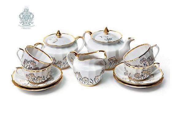 "Tea set ""Golden Angelika""."