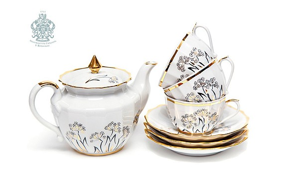"Tea set ""Golden Angelika""."