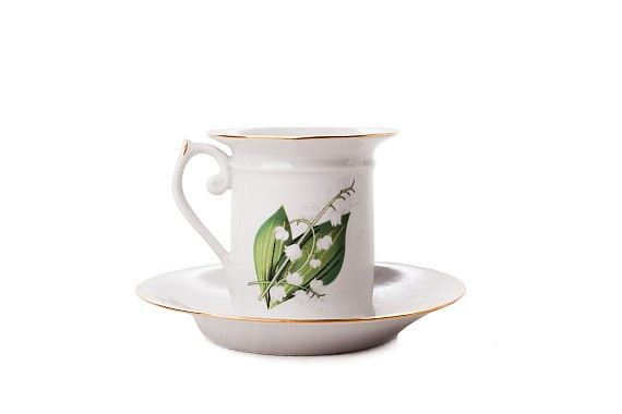 "Coffee pair ""Lilies of the valley"""