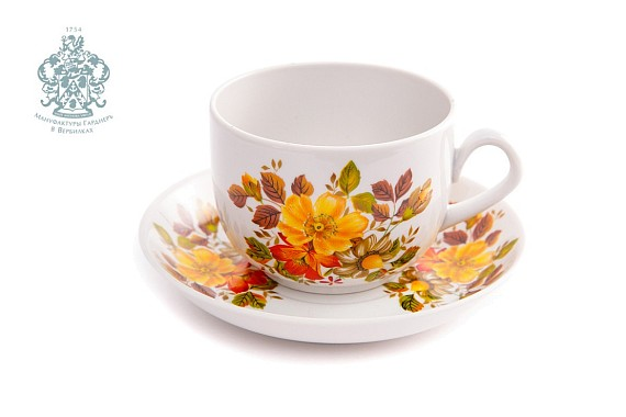 """Cup and Saucer """"Autumn"""""""