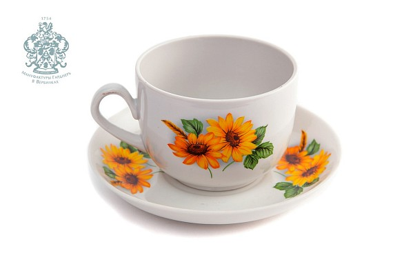 """Cup and saucer """"Golden Summer"""""""