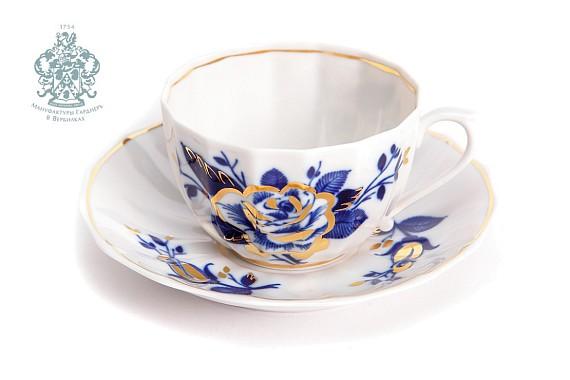 "Tea pair ""Night Flowers""."
