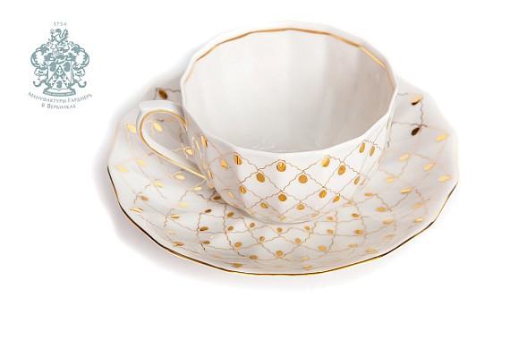"""Tea pair """"Golden veil""""."""
