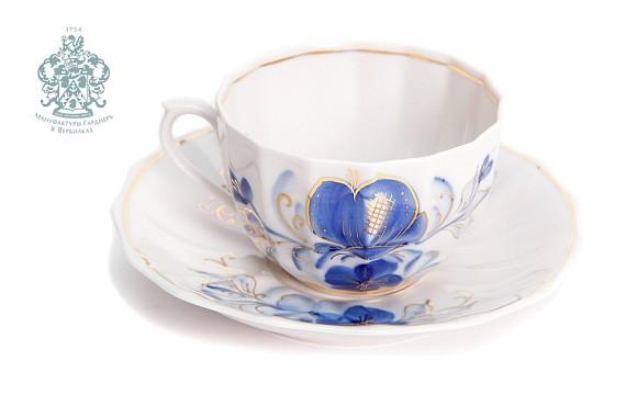 """Чайная пара """"Голубая магнолия"""""""