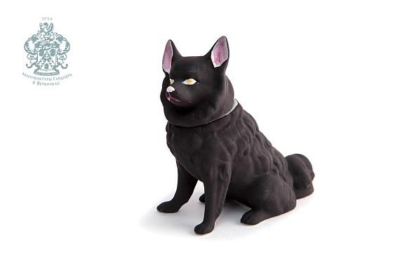 """Скульптура-шкатулка """"Собака черная"""""""