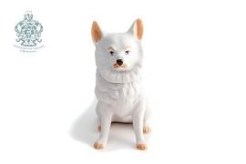 "Шкатулка ""Собака белая"""