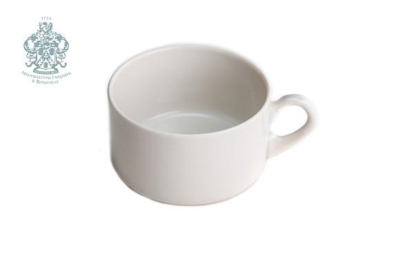 """Чашка кофейная """"Европейская """".Белая (штабелируемая)"""