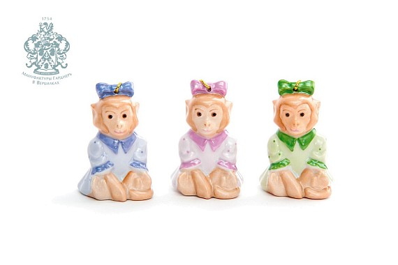 "Set of Christmas decorations ""Monkeys"""