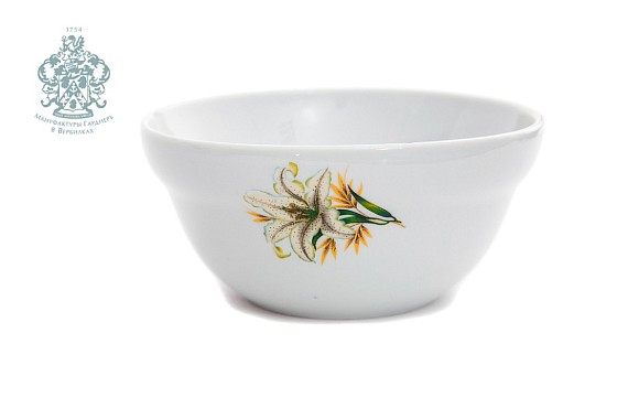 "Salad bowl ""White lily"""