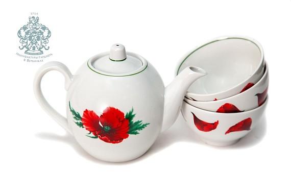 """Tea set """"Poppies color""""."""