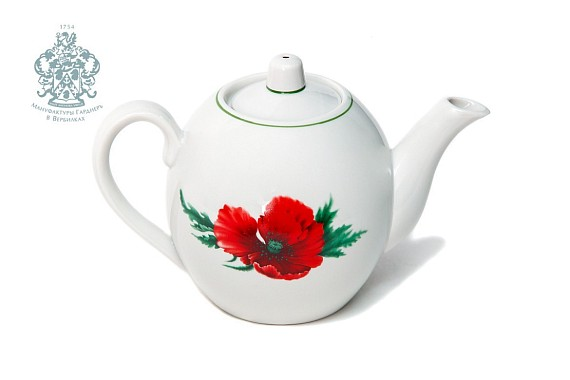 "Teapot ""Poppies color"" 800 ml"
