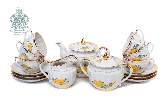 """Tea service """"Mimosa"""", a series of """"Perfection"""" Form of Empire"""