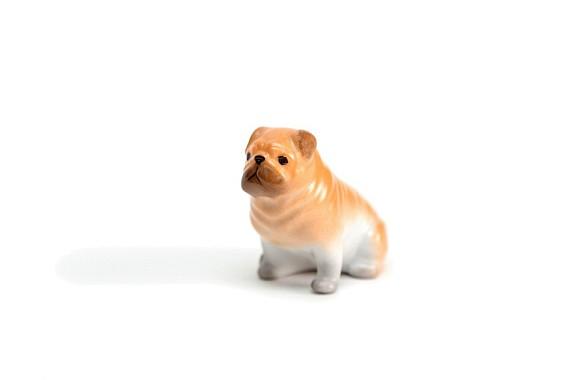 """Sculpture """"Ginger Pug Dog"""""""