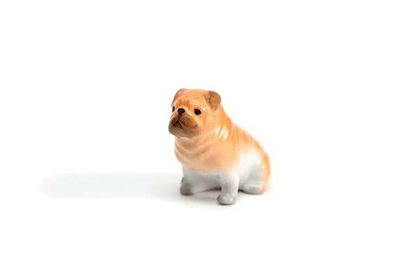 "Sculpture ""Ginger Pug Dog"""