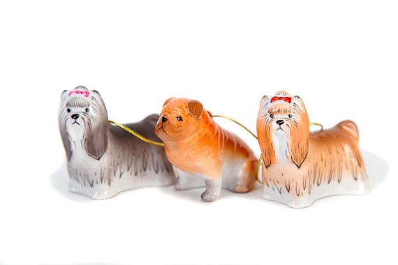 "Set of Christmas tree decorations ""Dogs"""