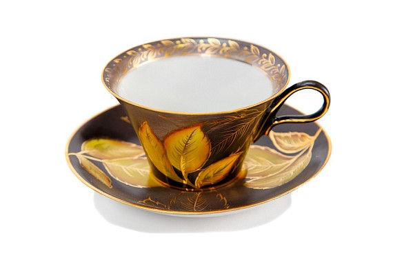 "Tea pair ""Autumn leaf"""