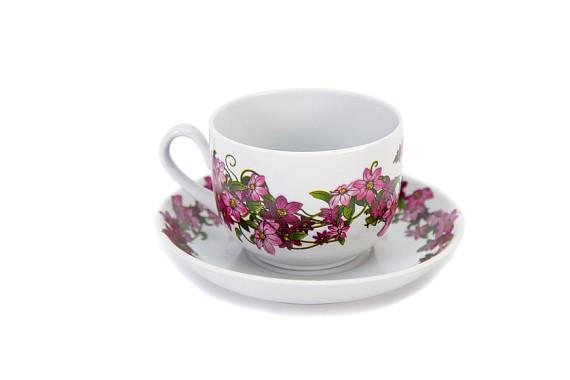 "Tea pair ""Clematis"""