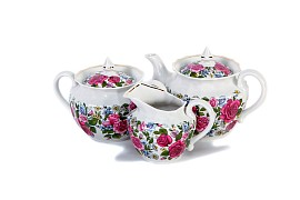 "Tea set ""Rose with chamomile"""