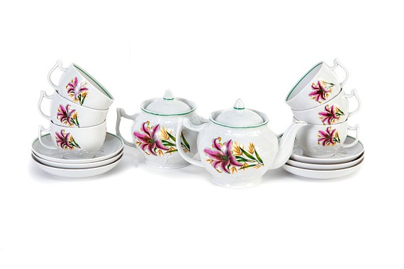 "Tea service ""Pink lily""."