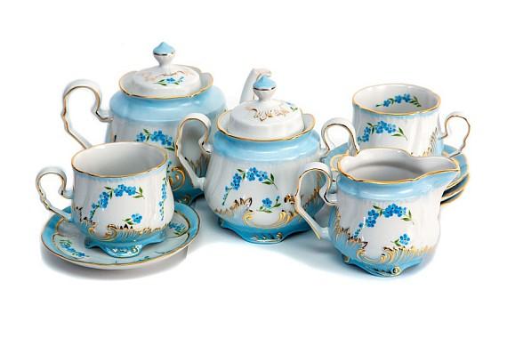 "Tea service ""Forget-me-nots""."