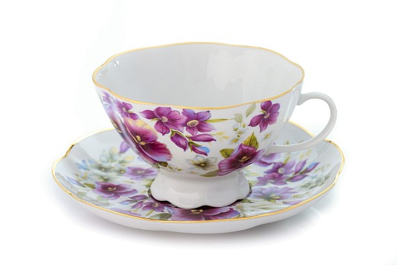 """Tea Pair """" Violets"""""""