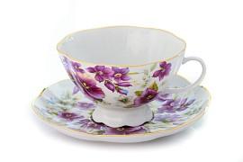 Чайная пара форма Восточная принцесса Фиалки